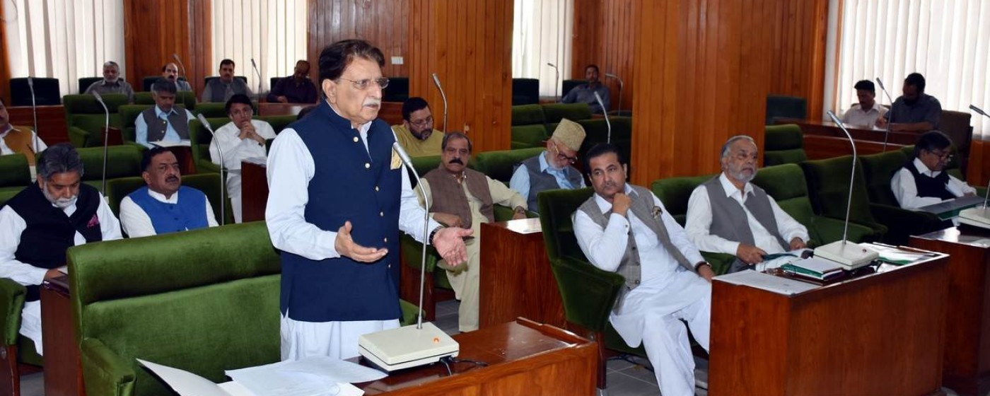 P.M Raja Muhammad Farooq Haider Khan addresses to AJK Legislative Assembly