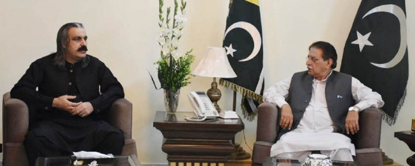 Minister Kashmir Affairs & GB called on P.M AJ&K Raja Muhammad Farooq Haider Khan