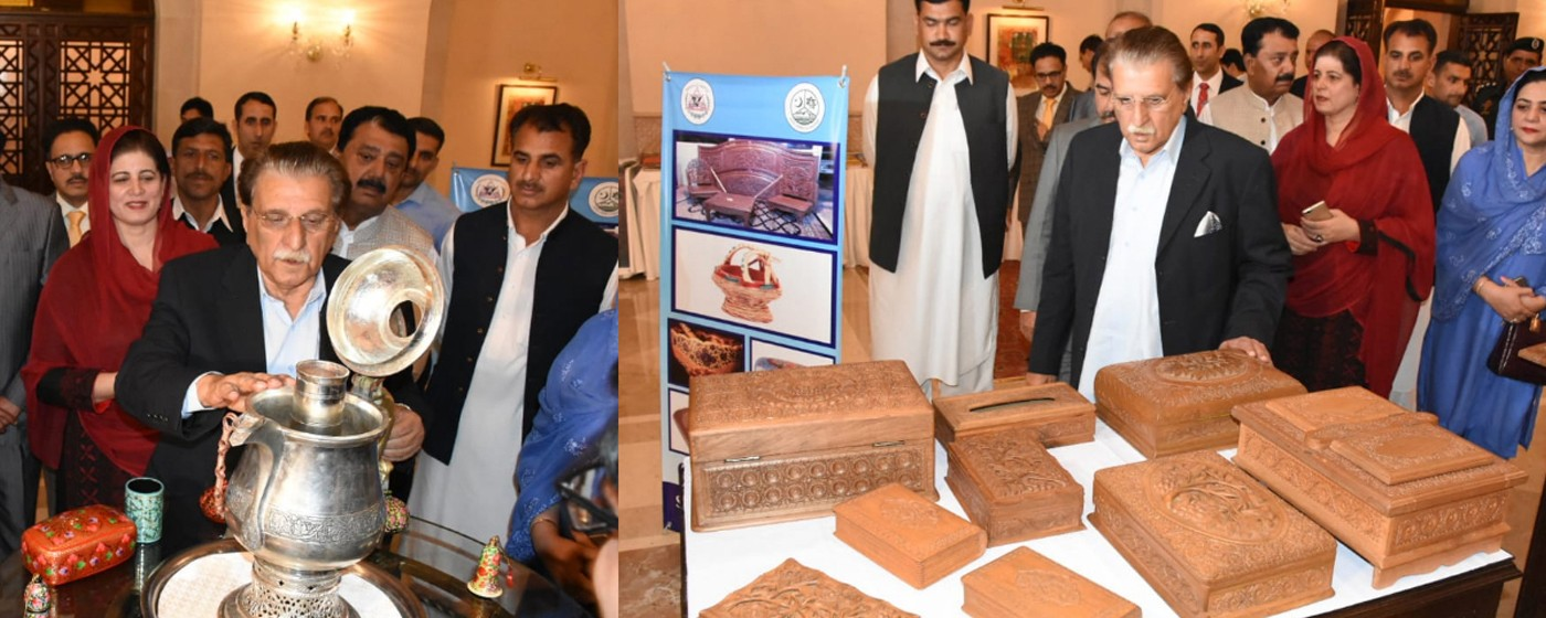 Islamabad: PM AJ&K Raja Muhammad Farooq Haider Khan and Secretary Tourism & Archaeology Midhat Shahzad visits international cultural conference held by National Heritage Pakistan, OIC and AJ&K Tourism and Archaeology department.